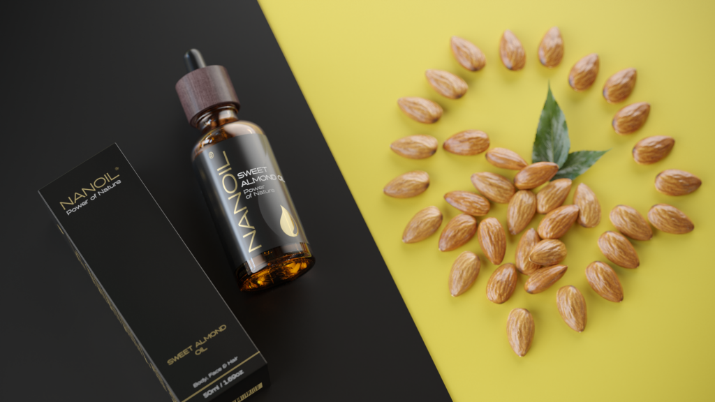 sweet almond oil for hair organic nanoil
